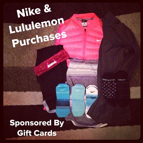 Where To Find Lululemon Gift Cards - my nike lululemon purchases sponsored by gift cards weight off my shoulders