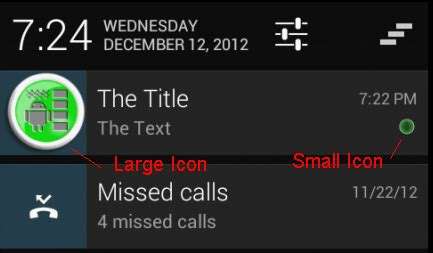 android notificationcompat 4.1 setsmallicon and