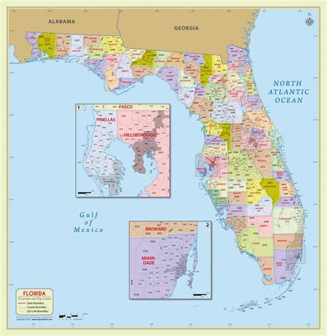 buy florida zip code  counties map