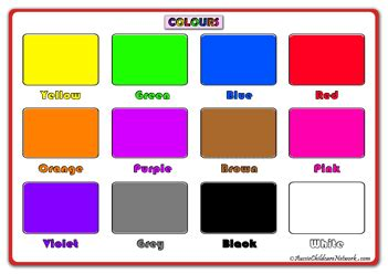 printable colour poster colours posters all colours aussie childcare network