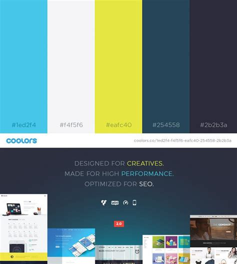 2017 color combinations 49 color schemes for 2017 envato medium
