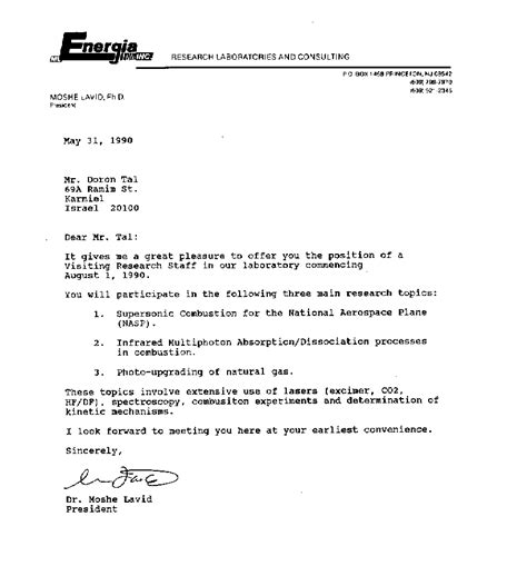 Offer Letter Usa Exhibits Fraud Committed By M L Energia Inc