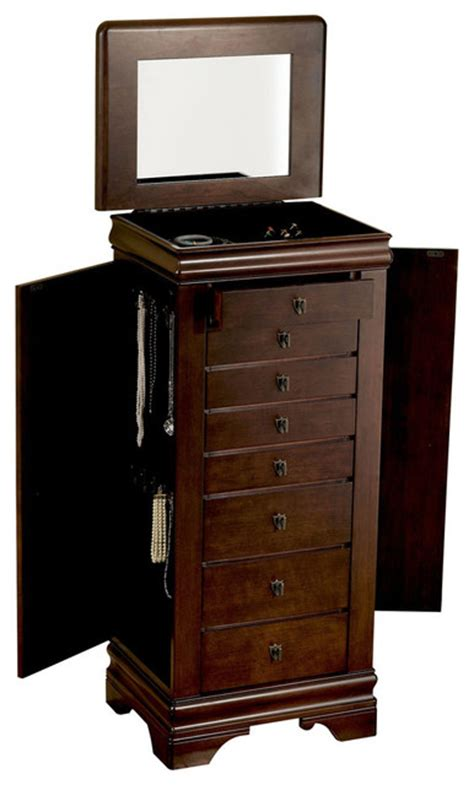 lowes flanders new jersey coaster furniture jewelry armoires jewelry armoire in