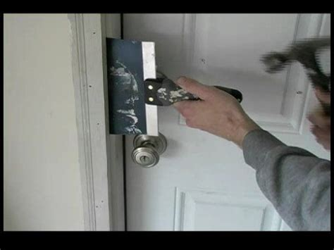 Removing An Exterior Door How To Replace A Garage Entry Door Removing Brick Mold On A Garage Entry Door