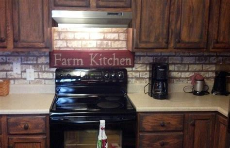 faux brick kitchen backsplash painted faux brick backsplash craft ideas pinterest