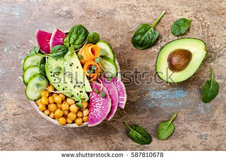 Hummus And Radish Detox Diet by Buddha Bowl Stock Images Royalty Free Images Vectors