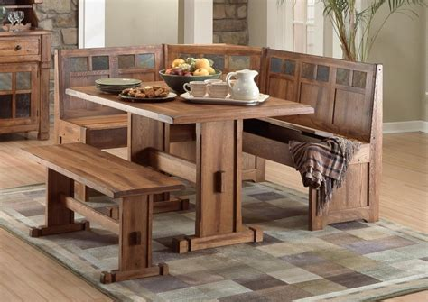 Wooden Kitchen Table With Bench by Farmhouse Wooden Kitchen Tables As Ageless Rustic Interior
