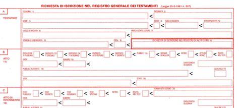 registro generale dei testamenti successioni