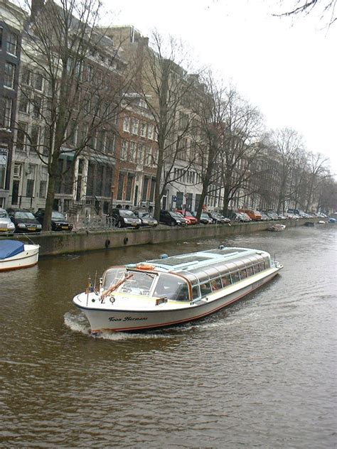 free canal tour boat amsterdam stock photo freeimages - Free Boats Amsterdam