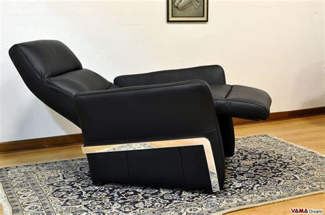 poltrone e relax poltrona relax manuale in pelle con girevole in acciaio