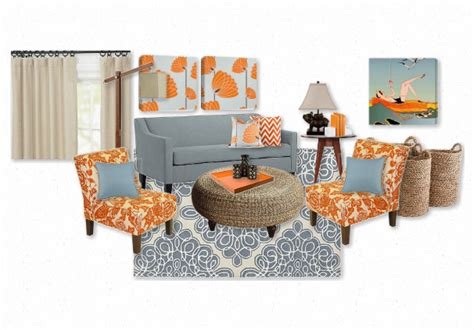 blue and orange room blue and orange living room by balancinghome olioboard