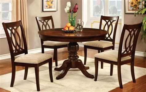 pedestal dining room sets carlisle brown cherry round pedestal dining room set from