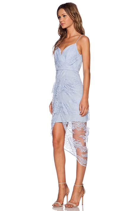 zimmerman silk drape dress zimmermann sheer drape silk dress in blue lyst