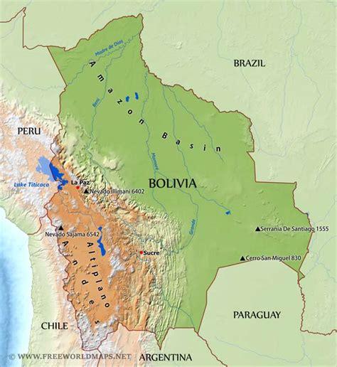 map of bolivia bolivia physical map