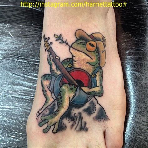 banjo tattoo frog banjo by me frog tattooes