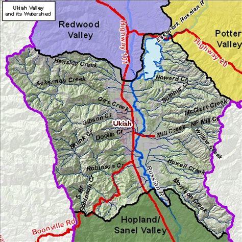 ukiah california map ukiah valley