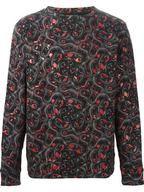 Marcelo Burlon All Snake Lyst Marcelo Burlon All Snake Print Sweatshirt In