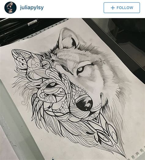 wolf mandala tattoo wolf mandala beautiful