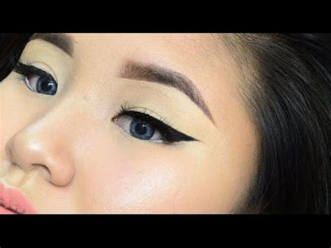 winged eyeliner tutorial asian winged liner for asian eyes youtube