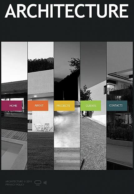 architecture company flash cms template