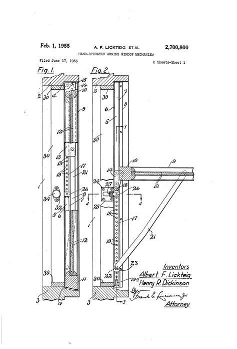 awning window mechanism patent us2700800 hand operated awning window mechanism