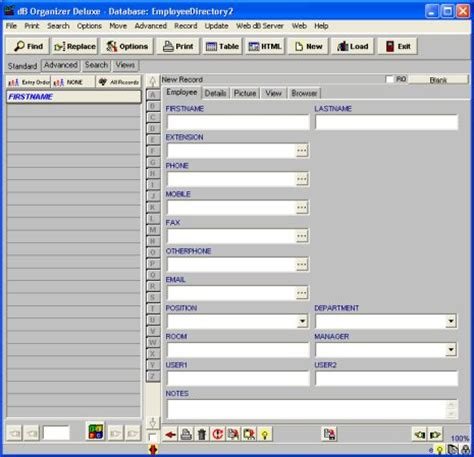 free employee database template in excel simple employee phone directory software for windows