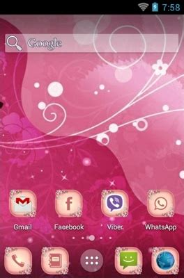 themes for android pink pink android theme for holo launcher androidlooks com