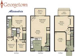 Townhome Floor Plan Georgetown Townhome Community In Jacksonville Florida