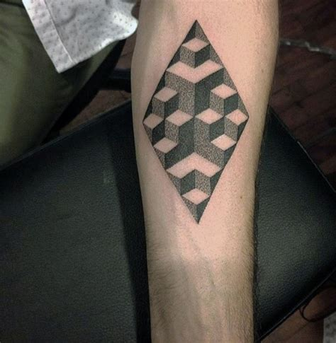 geometric tattoo cube 50 small geometric tattoos for men manly shape ink ideas