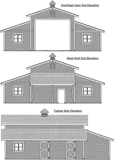 barn shop plans barn shop plans 44 x 36 monitor stablewise