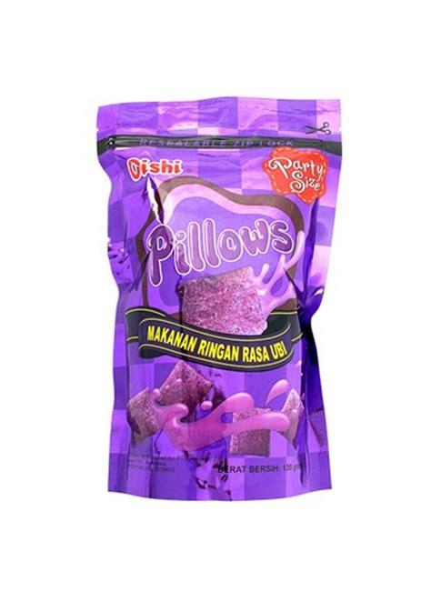 oishi snack pillows ubi pch  klikindomaret