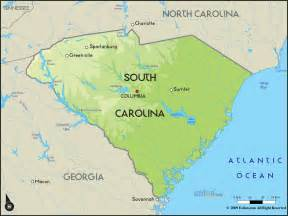 where is carolina on map south carolina map free large images