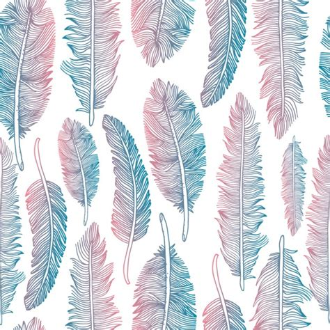 tribal pattern feather colorful tribal feather pattern vector free download