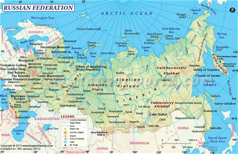 russia map 2015 political map of russia
