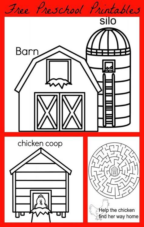 preschool printable farm activities farm coloring pages preschool coloring home