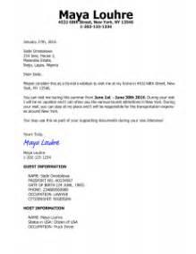 sample cover letter us visitor visa