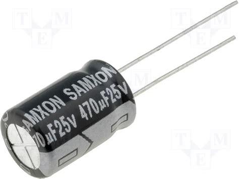470uf 35v electrolytic capacitor datasheet gt 470u 25v samxon gt470u25v datasheet