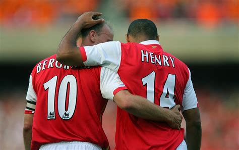 arsenal legend arsenal legend thierry henry calls dennis bergk his