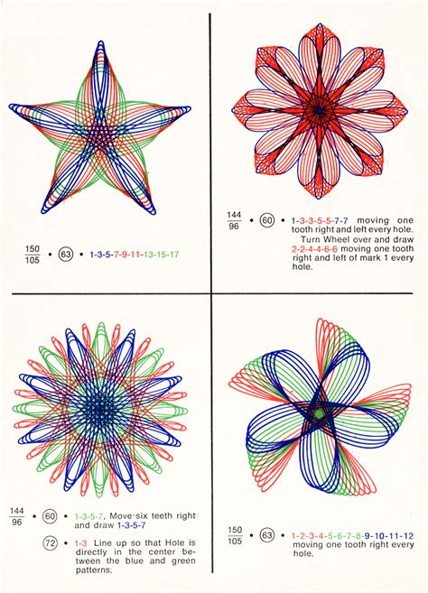 Spipo Designs by Scans From How To Draw With Spirograph 1967 Present Correct