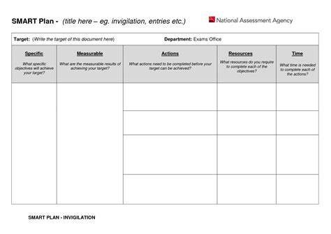smart plan template best photos of plan worksheet for goals