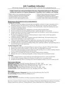 Cover Letter For Substance Abuse Counselor by Resume Sle Human Services Counselor Resume Sle