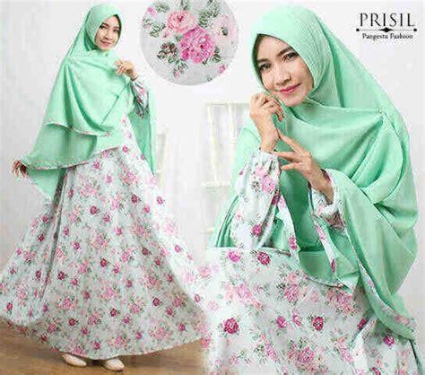 Baju Gamis Cantik Bahan Katun 120 model baju gamis terbaru yang cantik anggun dan syar i modelkeren