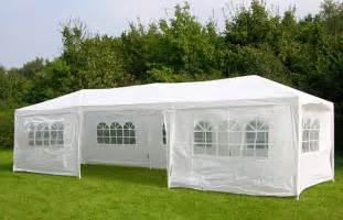 Party Gazebo by 3m X 9m White Waterproof Outdoor Garden Gazebo Party Tent