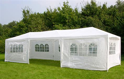 Pavillon 3x6 by 3m X 9m White Waterproof Outdoor Garden Gazebo Tent