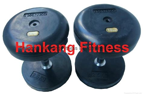 ivanko fixed rubber dumbbell hd 004 hankang fitness
