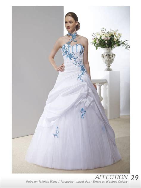 Robe De Mariée Bleu Turquoise Et Ivoire - robe de mariee bleu turquoise