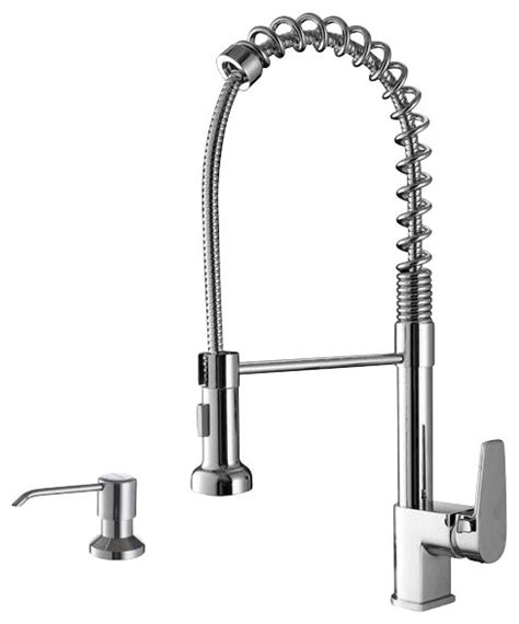kitchen faucet industrial ruvati rvf1216k1ch commercial kitchen faucet
