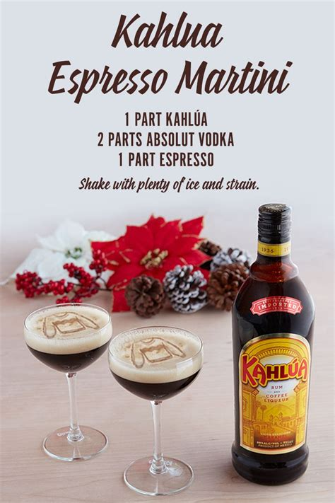 martinis recipes 8 best kahlua holiday classic drinks images on pinterest