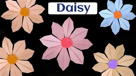 How To Make Paper Daisies - how to make a paper quot flower quot modular origami