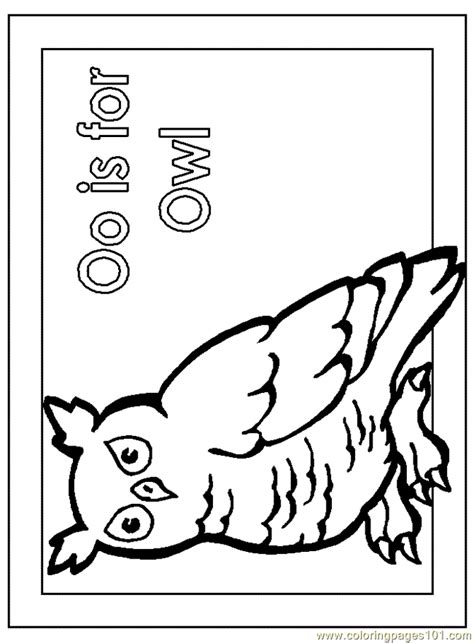 O The Owl Coloring Page by Owl Worksheet Colouring Pages